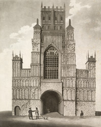 View of the West Tower and Front of Hereford Cathedral